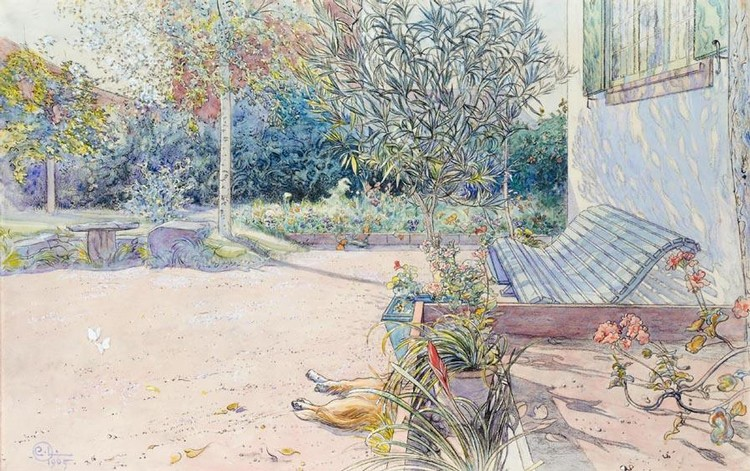 PROPERTY FROM A SWEDISH PRIVATE COLLECTION CARL LARSSON SWEDISH, 1853-1919 MIN GÅRDSPLAN (MY