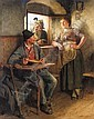 HUGO WILHELM KAUFFMANN GERMAN, 1844-1915 MITTAGSRAST IN DER STUBE (THE WOODCUTTER'S REPAST), Hugo Wilhelm Kauffmann, Click for value