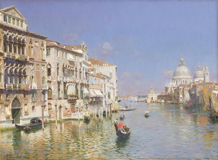 PROPERTY FROM AN ENGLISH PRIVATE COLLECTION RUBENS SANTORO ITALIAN, 1859-1942 THE GRAND CANAL,