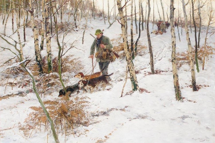 HUGO MÜHLIG GERMAN, 1854-1929 JÄGER IM WALD (HUNTSMAN IN A WOOD)