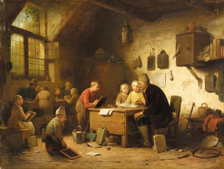 FERDINAND DE BRAEKELEER DUTCH, 1792-1883 THE CLASSROOM