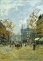 CARLO BRANCACCIO ITALIAN, 1861-1920 PARISIAN STREET, Carlo Brancaccio, Click for value