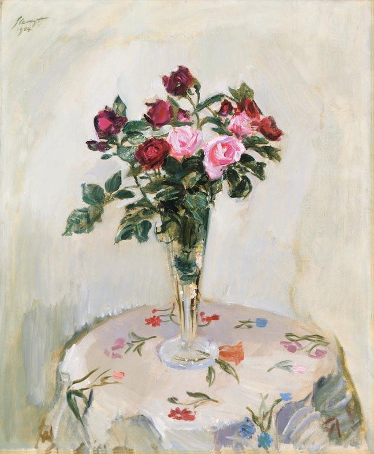 PROPERTY OF A EUROPEAN PRIVATE COLLECTOR f - MAX SLEVOGT GERMAN, 1868-1932 STILL LEBEN MIT ROSEN