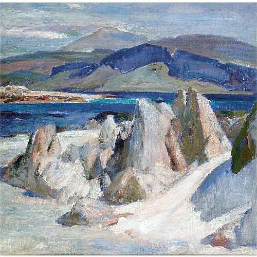 William Mervyn Glass, R.S.A., P.S.S.A. 1885-1965 , the monk rocks, iona