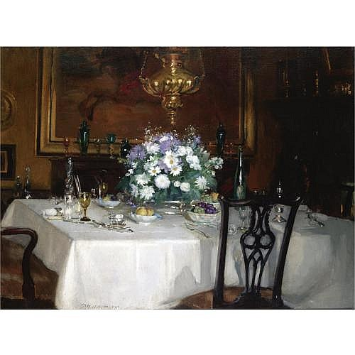 Patrick William Adam 1854-1930 , the dinner table, ardilea