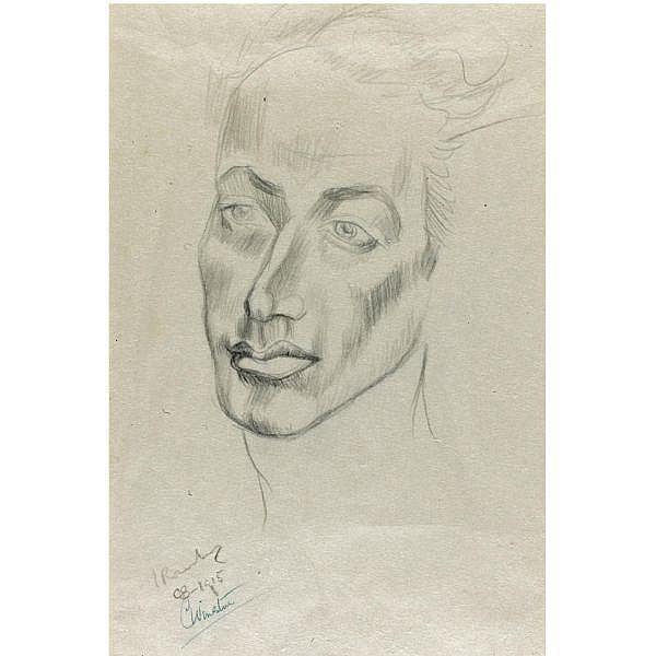 # - Rosenberg, Isaac--Clare Winsten. , Portrait of Isaac Rosenberg by Clare Winsten