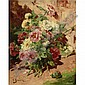 Georges Jeannin 1841 - 1925 , Pink and White Peonies oil on canvas   , Georges Jeannin, Click for value