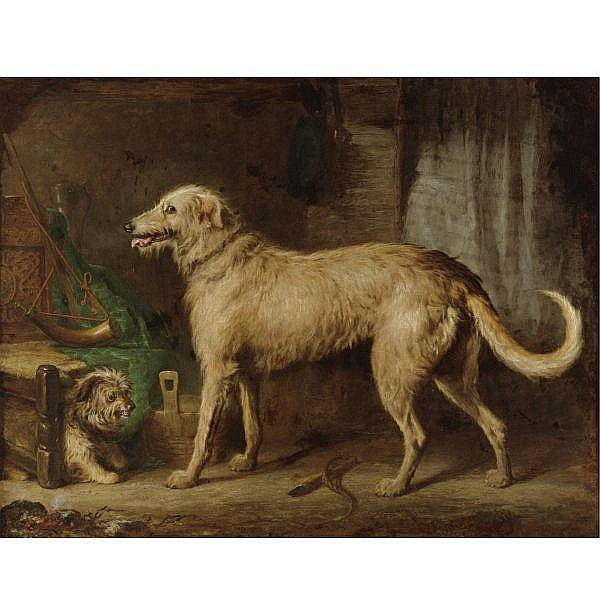 Gourlay Steell R.S.A. 1819-1894 , The Hunting Hound oil on canvas