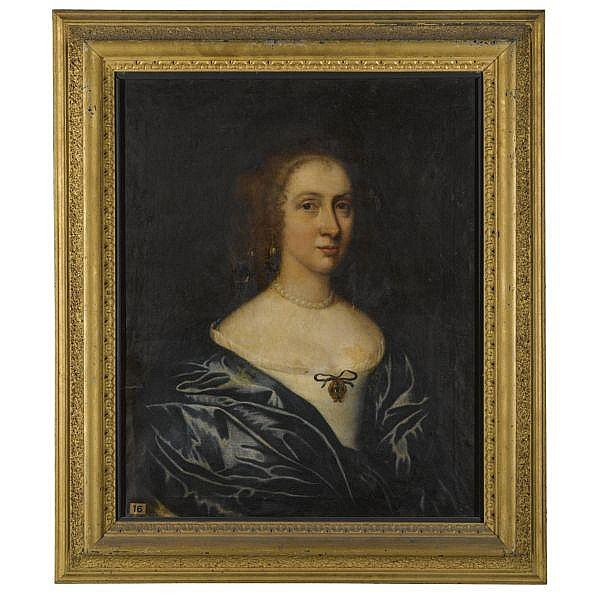 Circle of John Hayls , 1600 - 1679 Portrait of a Lady, possibly Margaret Waller, Wife of Sir William Courtenay, 1st Bt. (1628-1702) oil on canvas