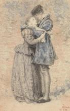 SIR JOHN EVERETT MILLAIS, P.R.A. | Original Study for <em>A Huguenot</em>