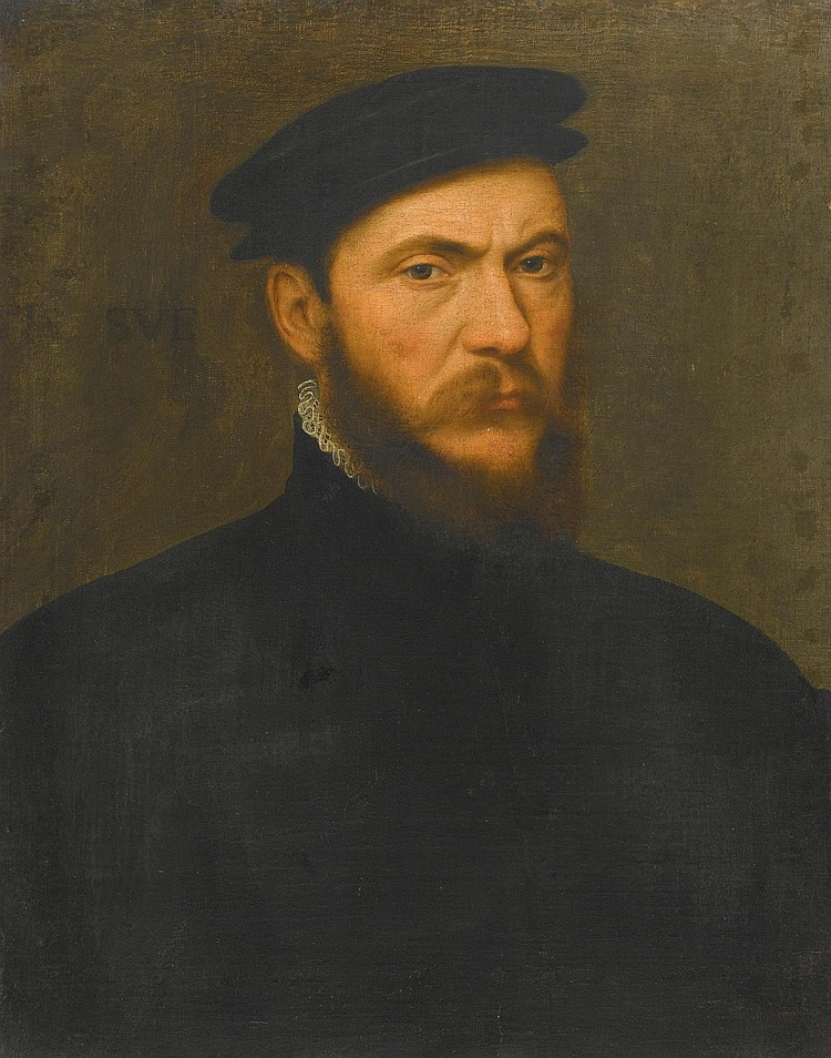 ATTRIBUTED TO WILLEM KEY | Portrait of a bearded man, half-length