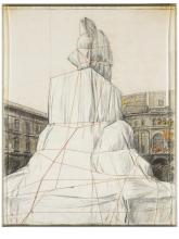 CHRISTO | Wrapped Monument to Vittorio Emanuele (Project for Piazza del Duomo, Milano)