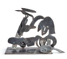 MENASHE KADISHMAN | Bird, Lambs and Figures: a Cutout in Two Pieces