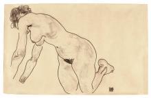 EGON SCHIELE | Crouching Female Nude