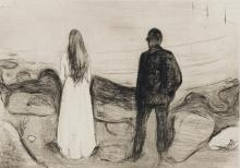 EDVARD MUNCH | Two Human Beings (The Lonely Ones)