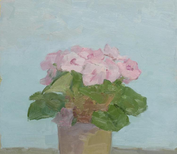 ALBERT YORK | Potted Plant with Pink Flowers