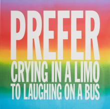 JOHN GIORNO | PREFER CRYING IN A LIMO TO LAUGHING ON A BUS