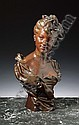 HENRI ALLOUARD, 1844-1929, A BRONZE BUST OF A LADY, FRENCH SCHOOL, Henri-Emile Allouard, Click for value