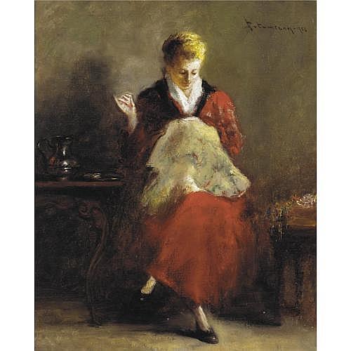 Haralambos Potamianos, Greek 1909-1958 , The Seamstress
