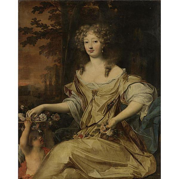 John Michael Wright , London 1617-1694 Portrait of a Lady oil on canvas