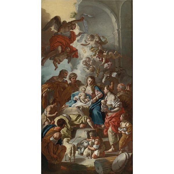 Francesco de Mura , Naples 1696 - 1782 The Adoration of the Shepherds oil on canvas