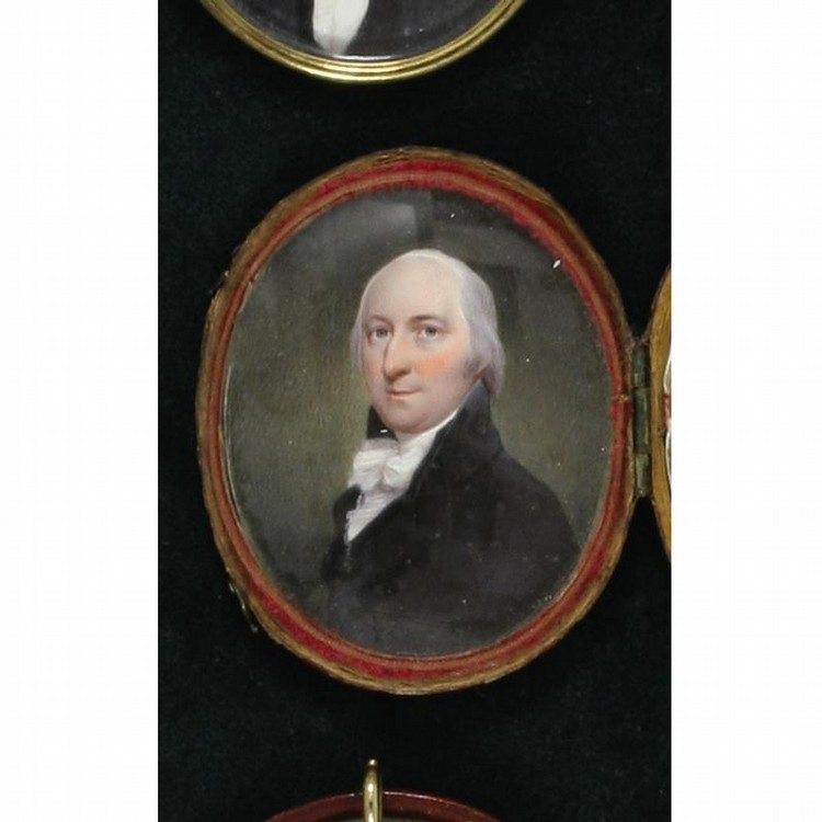 TWO PORTRAIT MINIATURES OF AN OLDER GENTLEMAN, BY WALTER ROBERTSON, CIRCA 1795