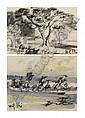 Nguyen Gia Tri 1908-1933 , Pagodon Dans La Campagne/ Femmes Avec Des Palanches gouache on paper   , Gia Tri Nguyen, Click for value