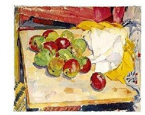 FLORIS JESPERS 1889-1965 NATURE MORTE AUX POMMES 78 by 94 cm. signed and dated 1916; signed on the reverse oil on canvas Provenance The former Collection of Mr. Jan Vlug, Brussels Private Collection, Brussels Note: In the still lifes and