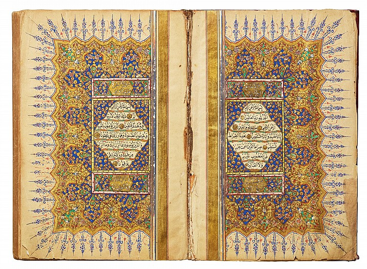 A SMALL ILLUMINATED QUR'AN, COPIED BY 'UMAR AL-ZUHDI, TURKEY, OTTOMAN, DATED 1264 AH/1847 AD |