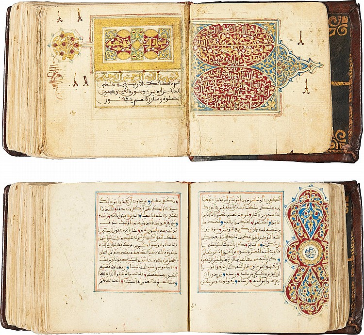 AN EXTENSIVELY ILLUMINATED QUR'AN, COPIED AND ILLUMINATED BY 'ABDULLAH AL-QURAYSHI, NORTH AFRICA, 17TH CENTURY |