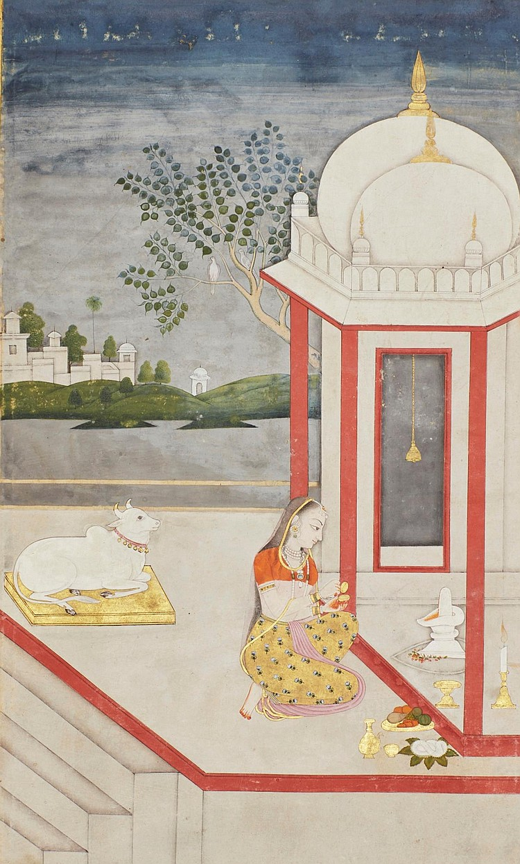 A RAGAMALA ILLUSTRATION: DEVGANDHARI RAGINI, INDIA, DELHI, 18TH CENTURY |