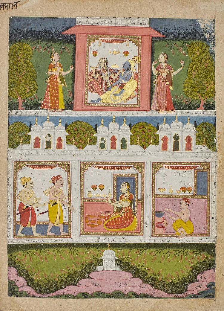 AN ILLUSTRATION TO A JAATMALA SERIES: HALWAIN (WIFE OF THE SWEET MAKER), INDIA, BUNDELKHAND, 18TH CENTURY |