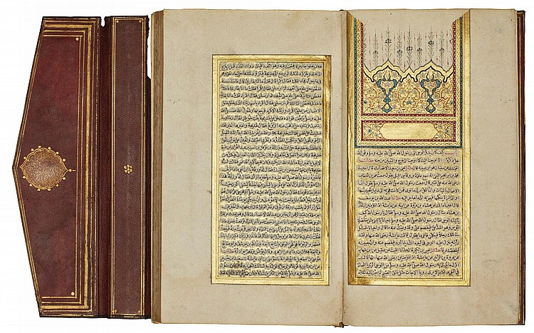 ABU 'ABDALLAH MUHAMMAD IBN ISMA'IL IBN IBRAHIM AL-BUKHARI AL-JU'FI (D.870 AD), AL-JAMI' AL-SAHIH, A CANONICAL COLLECTION OF TRADITIONS, ONE VOL., KITAB AL-IMAN ('THE BOOK OF FAITH'), TURKEY, OTTOMAN, FIRST HALF 18TH CENTURY |