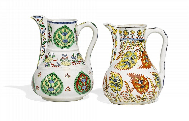 TWO KÜTAHYA POTTERY JUGS, TURKEY, 18TH CENTURY |