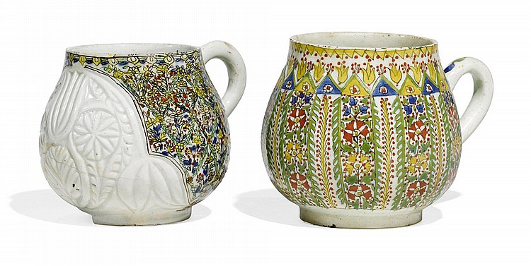 TWO KÜTAHYA POTTERY CUPS, TURKEY, 18TH CENTURY |