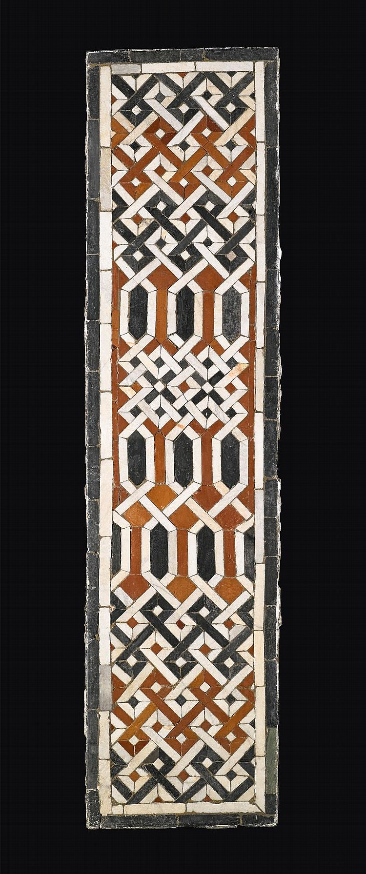 A LATE MAMLUK OR EARLY OTTOMAN GEOMETRIC MARBLE MOSAIC PANEL, EGYPT, PROBABLY CAIRO, 15TH-17TH CENTURY |
