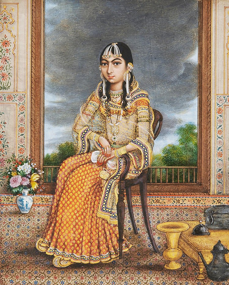 A SEATED PRINCESS, INDIA, DELHI, CIRCA 1820-30 |
