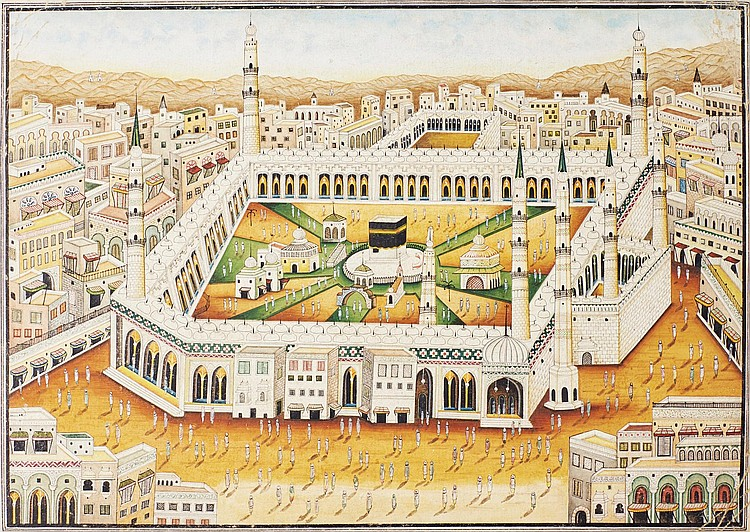 A LARGE VIEW OF MECCA, INDIA, 19TH CENTURY |