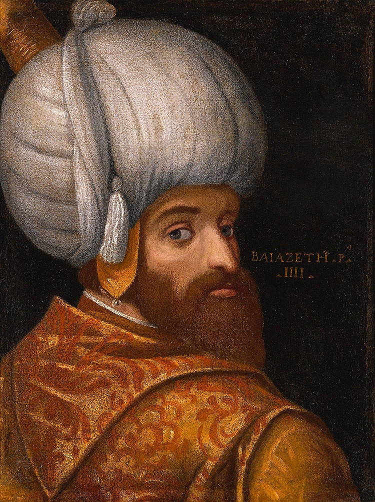 A PORTRAIT OF SULTAN BAYEZID I, SCHOOL OF VERONESE, ITALY, CIRCA 1580 |