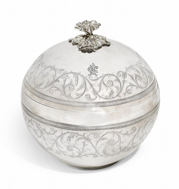 AN OTTOMAN SILVER BONBONNIÈRE, STAMPED WITH TUGHRA OF ABDÜLHAMID II (R.1876-1909), TURKEY, LATE 19TH CENTURY |