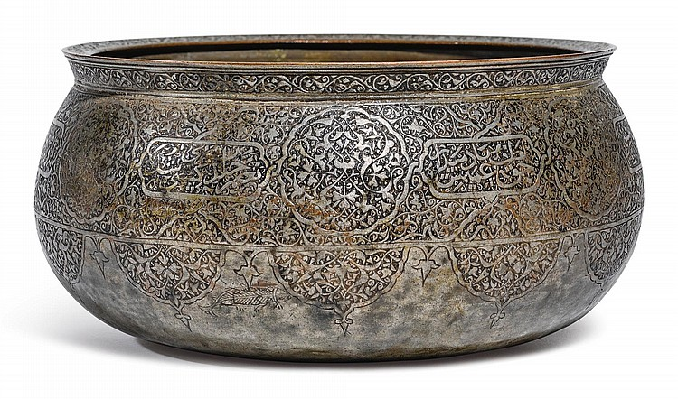 A LATE TIMURID/EARLY SAFAVID TINNED-COPPER BOWL, PERSIA, LATE 15TH/EARLY 16TH CENTURY |