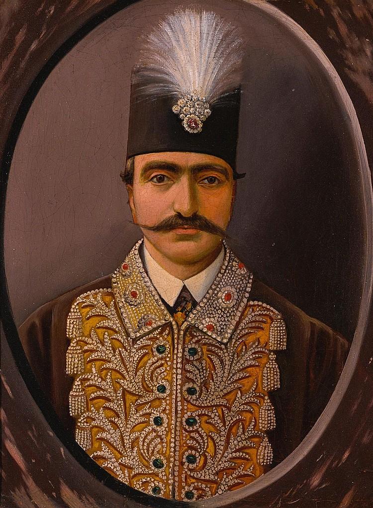 A PORTRAIT OF NASIR AL-DIN SHAH (R.1848-96), PERSIA, QAJAR, 19TH CENTURY |