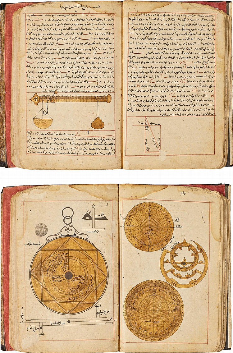 A COMPENDIUM CONTAINING ASTROLOGICAL AND TALISMANIC TREATISES AND TRACTS MOSTLY BY ABU MA'SHAR AL-BALKI (D.886 AD) AND INCLUDING NUMEROUS TABLES, SIGNED BY MUFADDAL IBN HAYDAR AND MAS'UD IBN AS'AD, PERSIA, PROBABLY SHIRAZ, INJUID, DATED 747-8