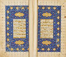 AMIR KHUSRAW DEHLAVI, DIWAN, SIGNEDBY NUR AL-DIN AL-HARAWI, PERSIA, TIMURID, DATED896 AH/1491 AD |