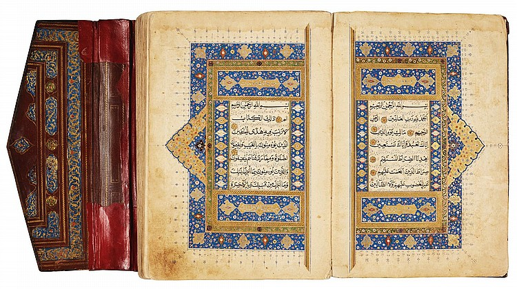 A LARGE ILLUMINATED QUR'AN, PERSIA OR CENTRAL ASIA, SAFAVID, 16TH CENTURY |