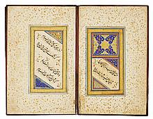 AN ILLUMINATED CALLIGRAPHIC MURAQQA' OF POETRY, PERSIA, SAFAVID, 16TH/17TH CENTURY |