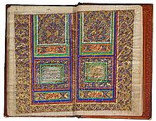 A MINIATURE QUR'AN ON GAZELLE SKIN, PERSIA, QAJAR, 19TH CENTURY |