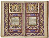 AN ILLUMINATED QUR'AN, PERSIA, QAJAR, MID-19TH CENTURY, WITH LACQUER BINDING SIGNED BY MUHAMMAD HUSAYN, DATED 1279 AH/1862 AD |