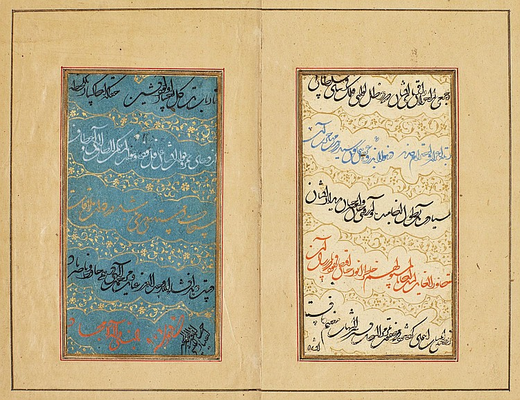 A MANUSCRIPT OF POETRY, SIGNED BY IKHTIYAR AL-MUNSHI, PERSIA, SAFAVID, DATED 975 AH/1567-68 AD |