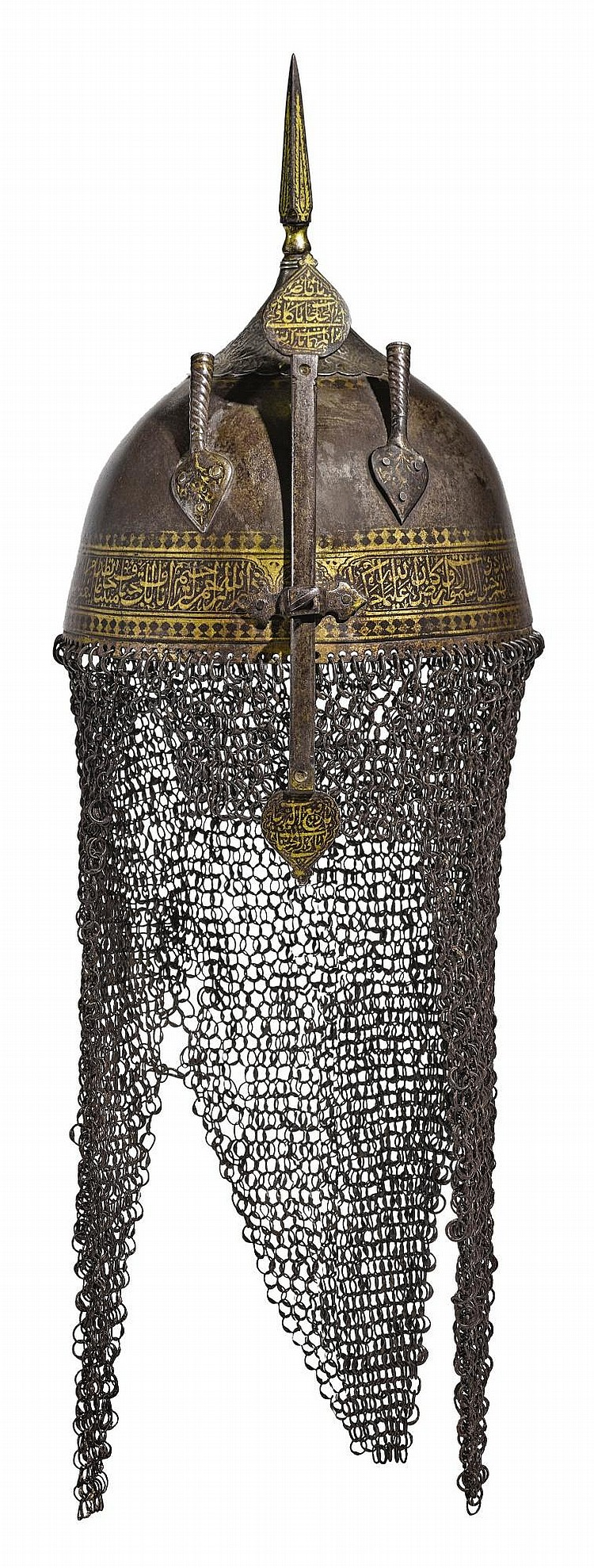 A SAFAVID OR ZAND GOLD-OVERLAID STEEL HELMET, PERSIA, 17TH/18TH CENTURY |